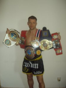 Rich with some of his belts